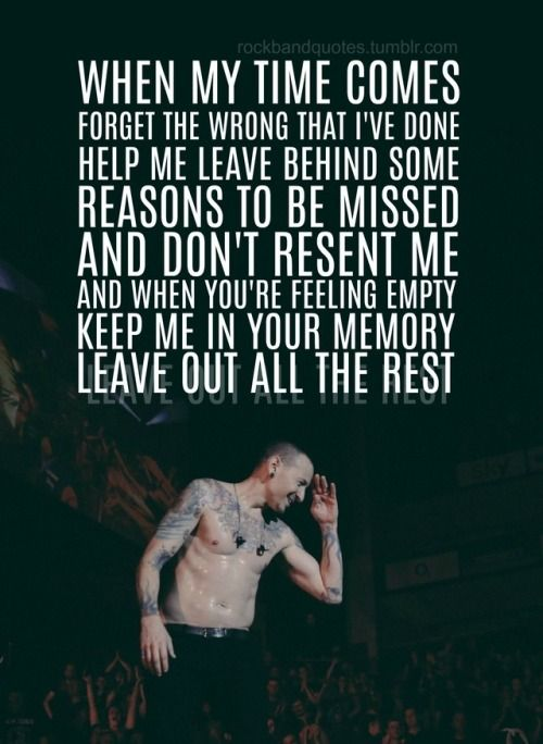 Rockbandquotes Linkin Park Wallpaper Linkin Park Chester Park Quotes