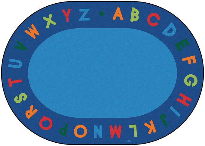 Alphabet Circletime Rug 8 3 X 11 8 Oval Carpets For Kids