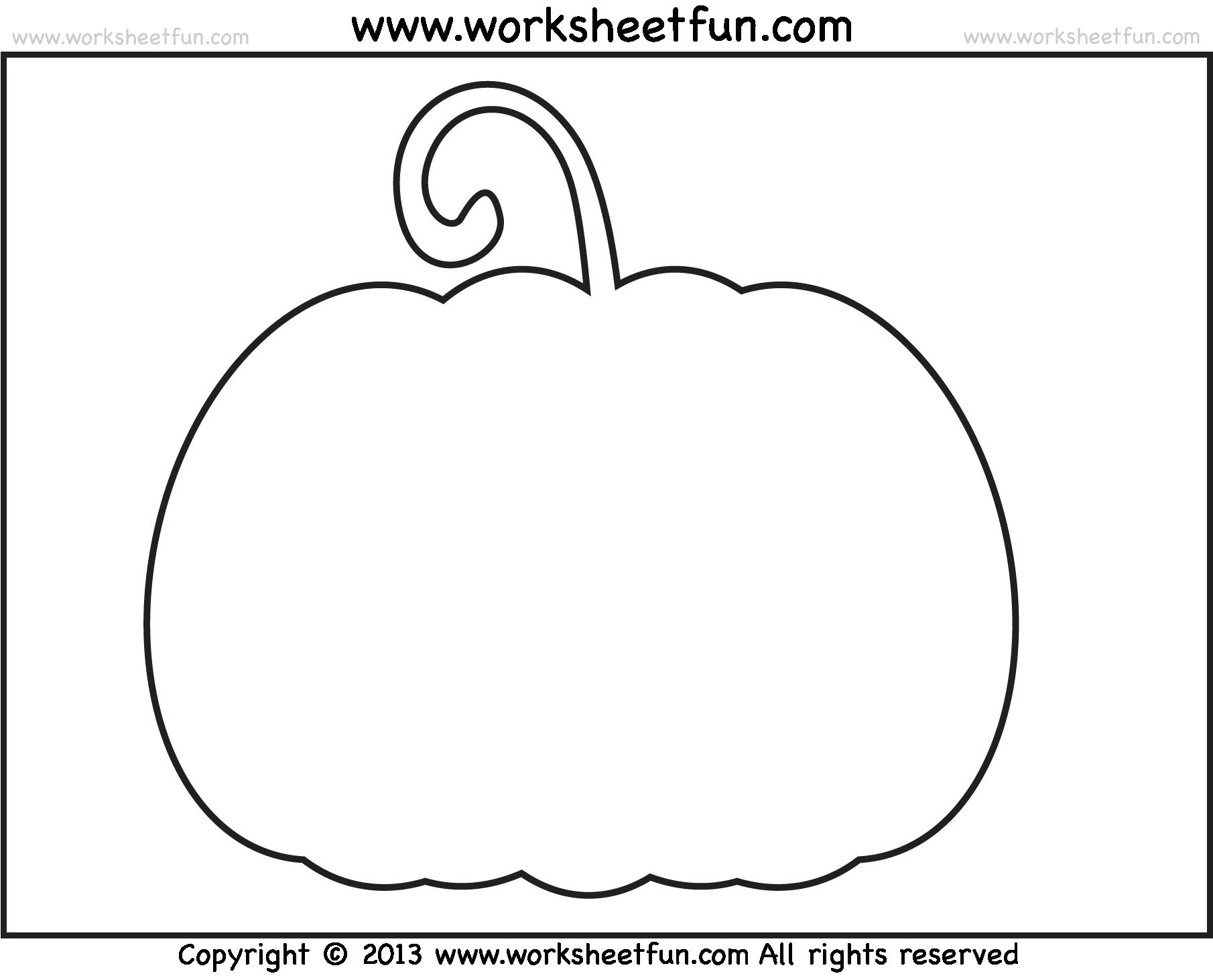 Letter Worksheet For Kindergarten Free Pumpkin