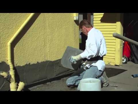 Http://www.stuccoplastering.com  510 521-9546  Kirk Giordano Plastering Inc.  Howdy folks, this short step by step; video explains how we apply 3 coats of plaster to a newly built foundation. Tom Carroll of Carroll construction usually completes about 20 to 30 of these foundation repairs per year mainly but not specifically in the town of Alameda, ...