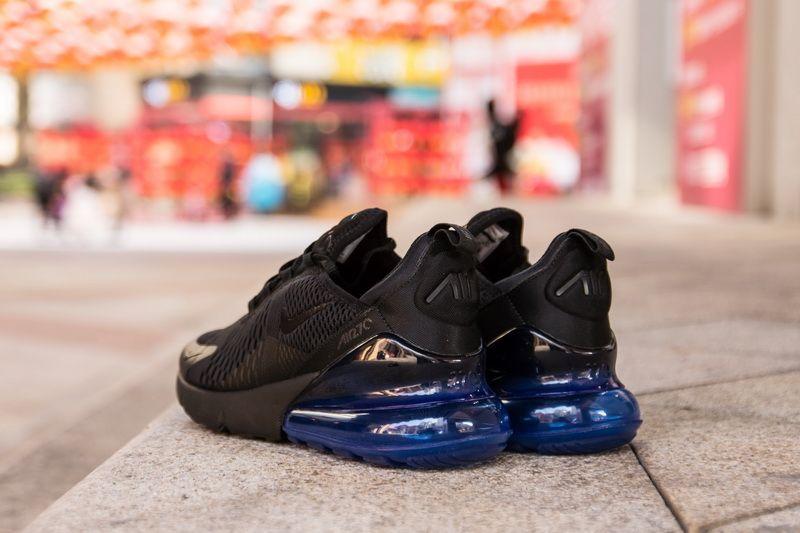 lowest price 6088d de221 Nike Air Max 270 AH8050-009 Black Blue Sneaker for Sale-16