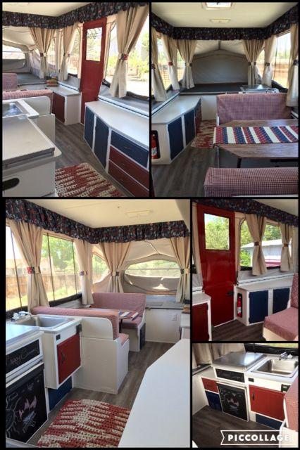 Americana Decor In A Camper Pop Up Camper Remodeled