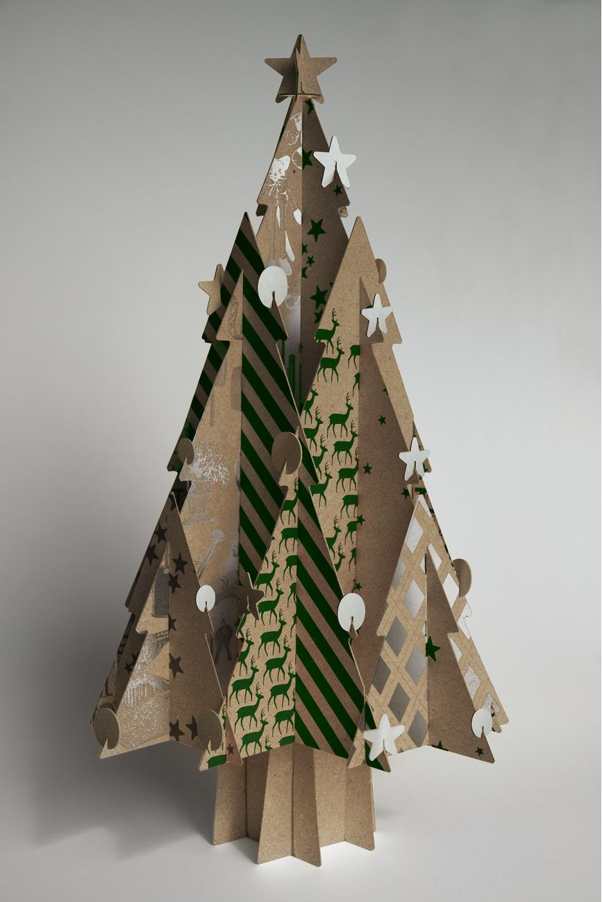 Moderno Recycled Cardboard Christmas Trees Boutique Cascades Cardboard Christmas Tree 3d Christmas Tree Modern Christmas Tree
