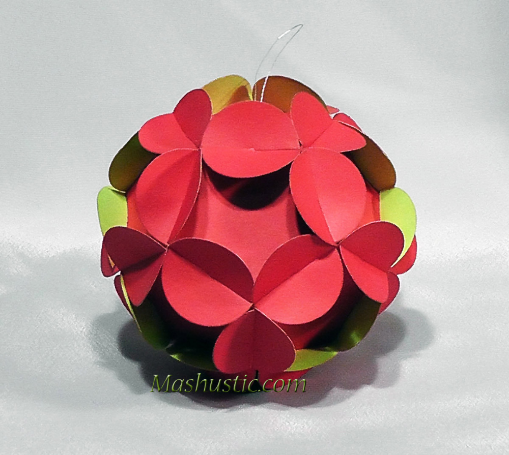 Standing Proplamp Paper Balls Warm Colors Waste Paper