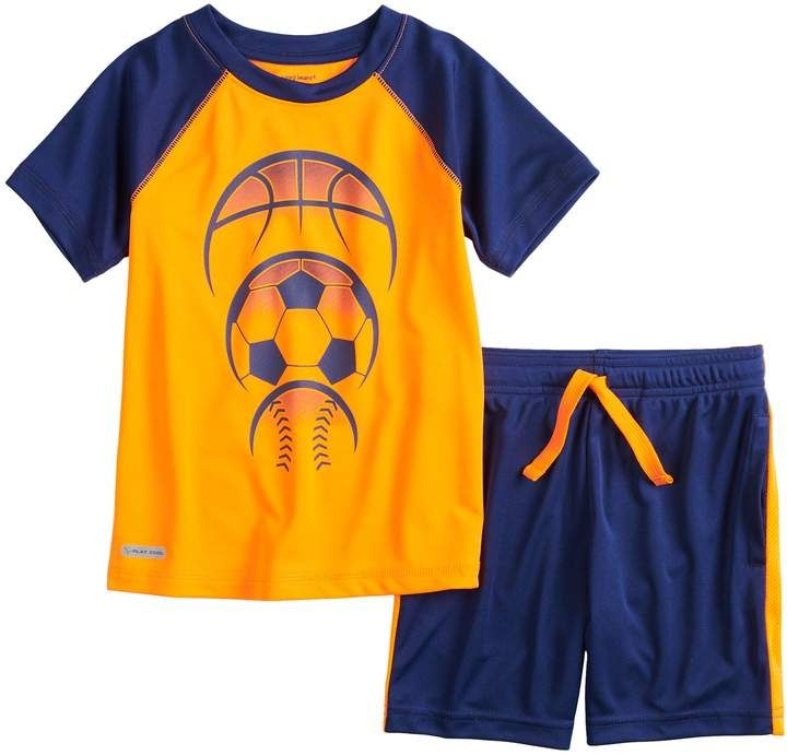 30530f11d Toddler Boy Jumping Beans Sporty Active Raglan Tee & Shorts Set in ...