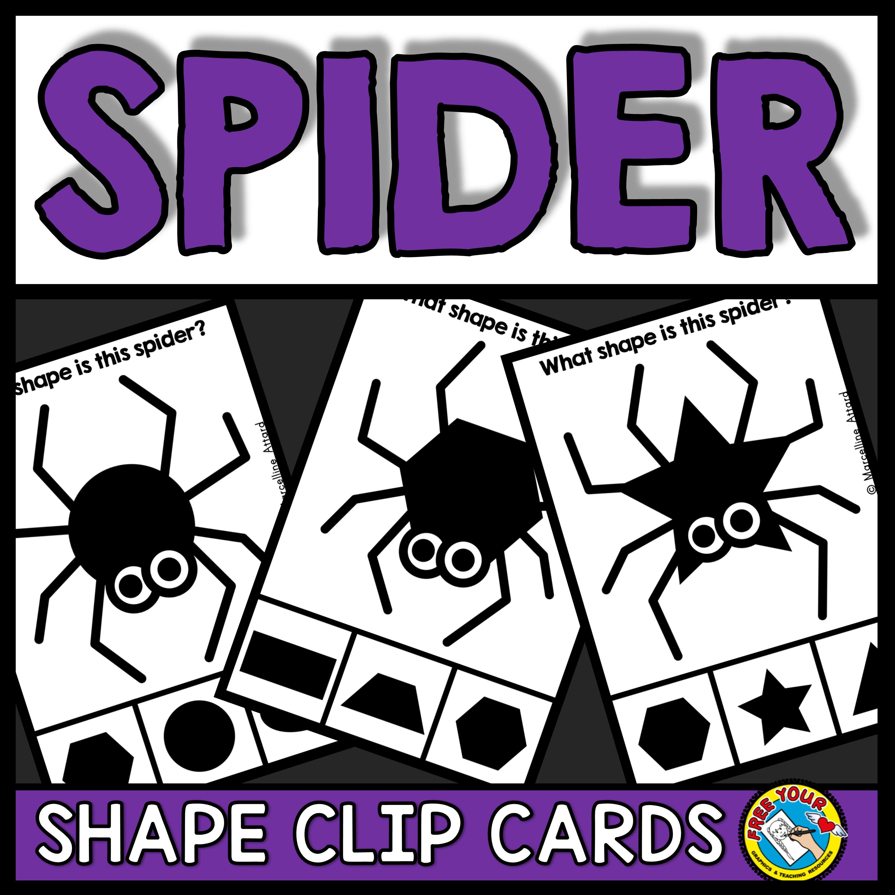 Spider Shapes Clip Cards This Fun Math Center Focusing On 2d Shapes Will Surely Enga Math Kindergarten Shapes Halloween Activities Preschool Fun Math Centers [ 3072 x 3072 Pixel ]