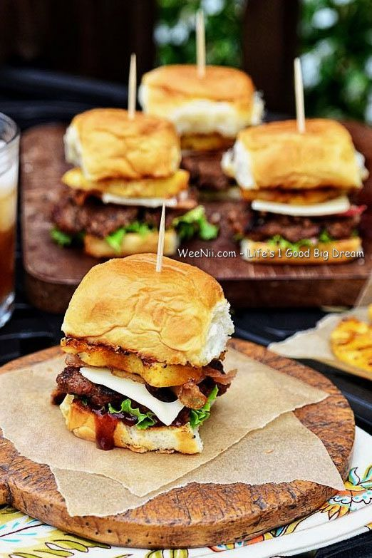 Tropical Teriyaki Beef Burger