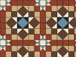 Original Style Chatsworth Victorian Tile Design - Red/Buff/Brown/Blue/Black/White