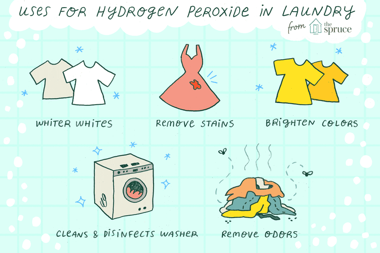 Hydrogen Peroxide Is Magic In The Laundry Cleaning Clothes