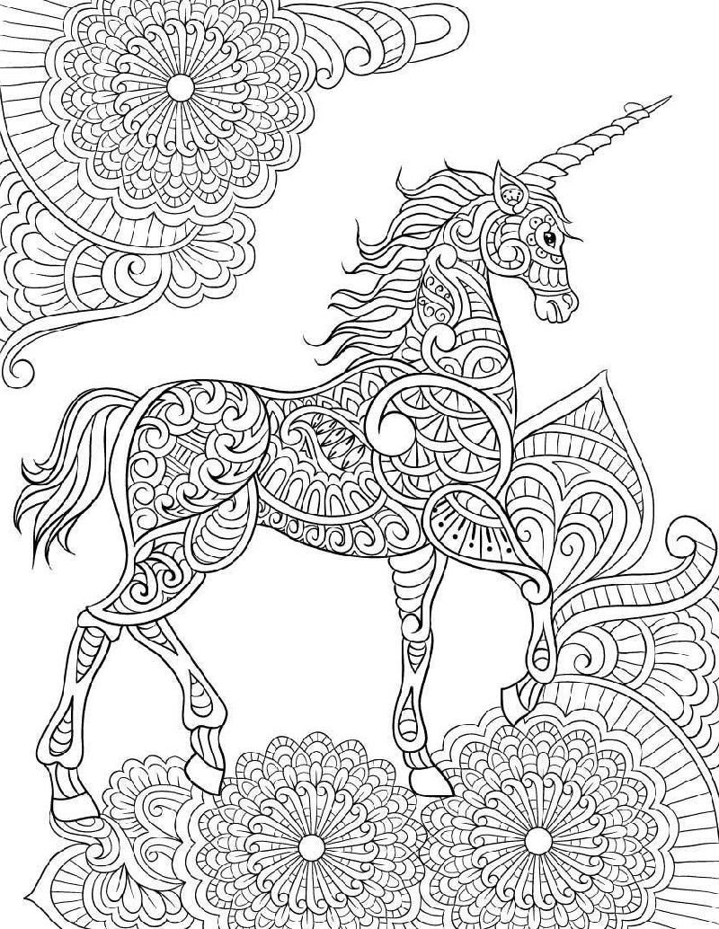 Unicorn Coloring Book For Adults Unicorn Coloring Pages Mandala Coloring Pages Detailed Coloring Pages [ 1034 x 800 Pixel ]