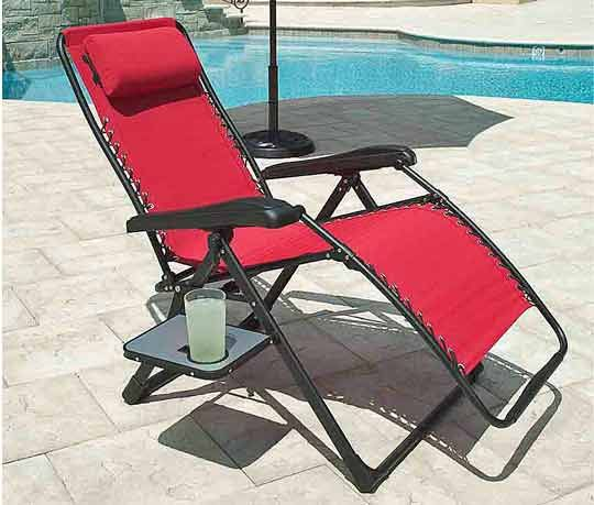 Zero Gravity Lounge Chair With Table