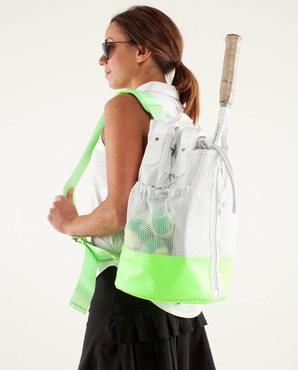Lululemon Rally Tennis Raquet Ball Bag One Shoulder Or Hand Carry Neon Green