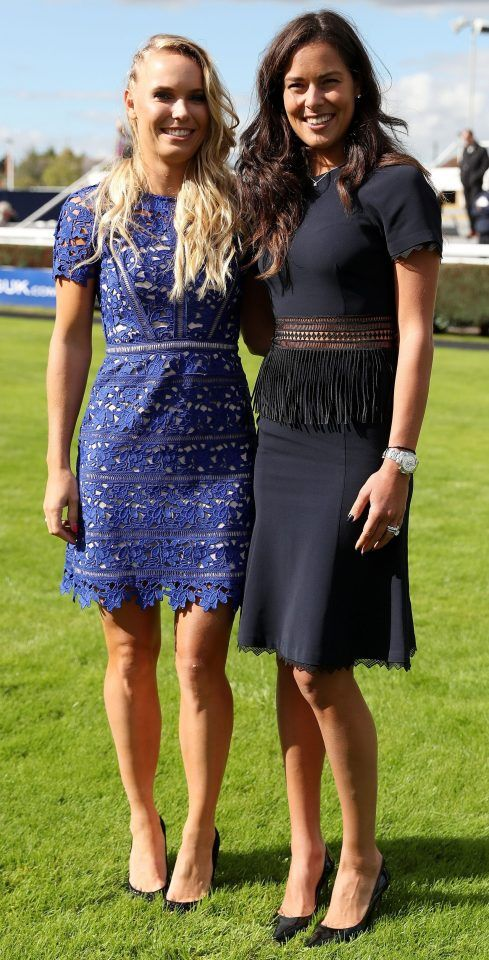 The two tennis beauties enjoyed their day at the races
