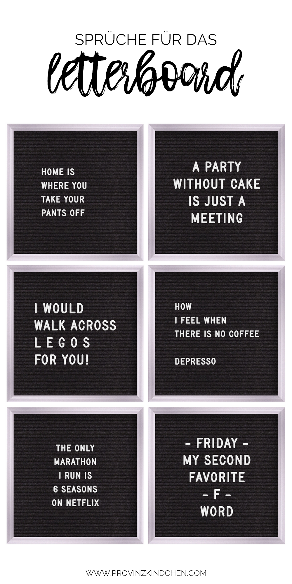 Funny Board Quotes : funny, board, quotes, Sprüche, Letterboard, Provinzkindchen, Letterboard,, Witzige, Briefe,, Words