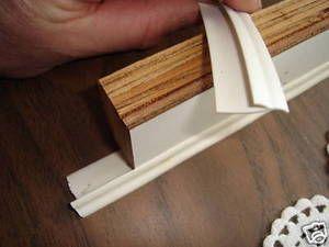 Rv marine flexible reverse cove MOLDING TRIM wall cabinet white 50/'