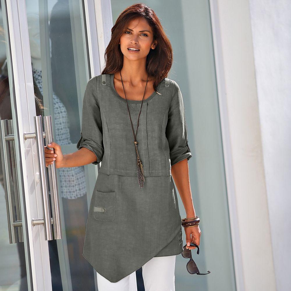 tunique asym trique lin coton oble eni pinterest tuniques coton et vetement femme grande. Black Bedroom Furniture Sets. Home Design Ideas