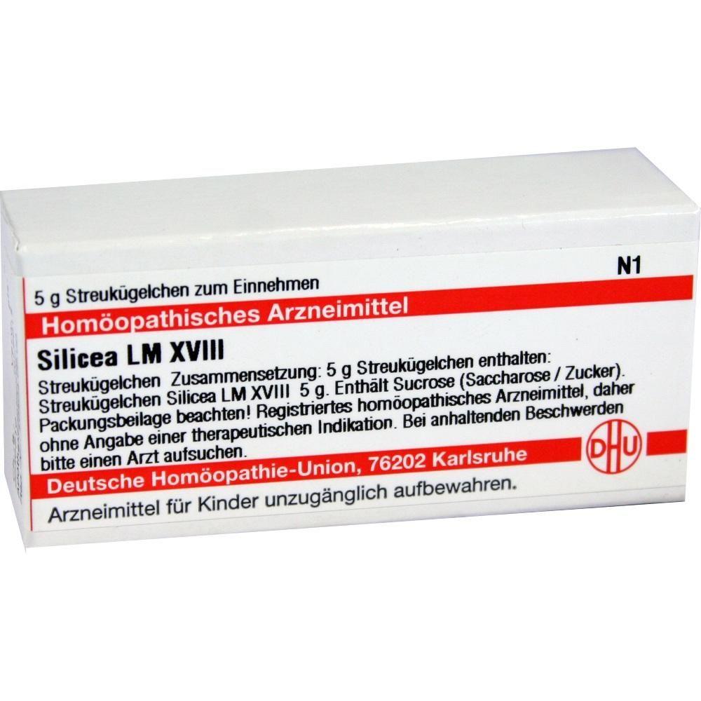 LM SILICEA XVIII Globuli:   Packungsinhalt: 5 g Globuli PZN: 02660054 Hersteller: DHU-Arzneimittel GmbH & Co. KG Preis: 7,80 EUR inkl. 19…