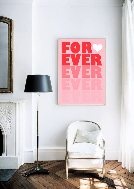 Forever Retro Style Typography Poster van lettersonlove op Etsy ...