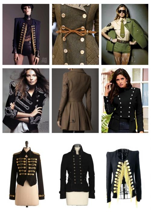 Military style dress coats