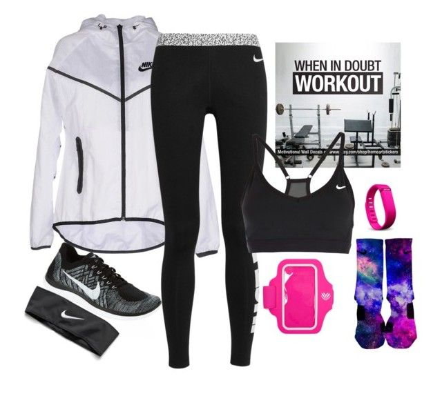"""""""Training For Soccer!"""" by jesuschristfollower ❤ liked on Polyvore featuring moda, NIKE, Fitbit i Forever 21"""