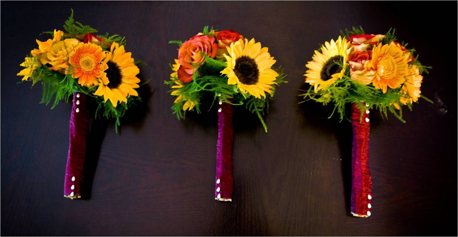 Wedding bouquets of sunflowers  fall wedding bouquets  I said yes  Pinterest  Wedding Fall