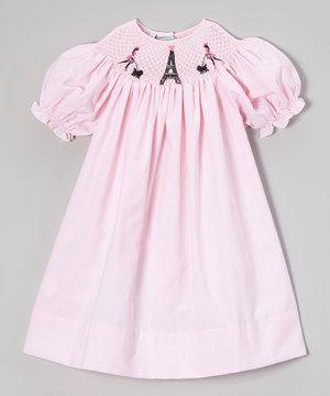Loving this Sweet Dreams Pink Spring in Paris Bishop Dress - Infant, Toddler & Girls on #zulily! #zulilyfinds