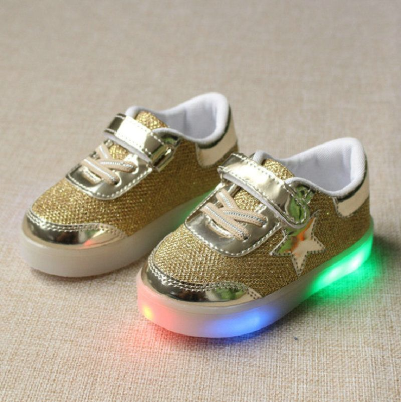 f67920d2c8def Click to Buy    children shoes with light 2016 autumn baby boys girls shoes  chaussure led enfant child fashion breathable boys sneakers EU21-30   Affiliate