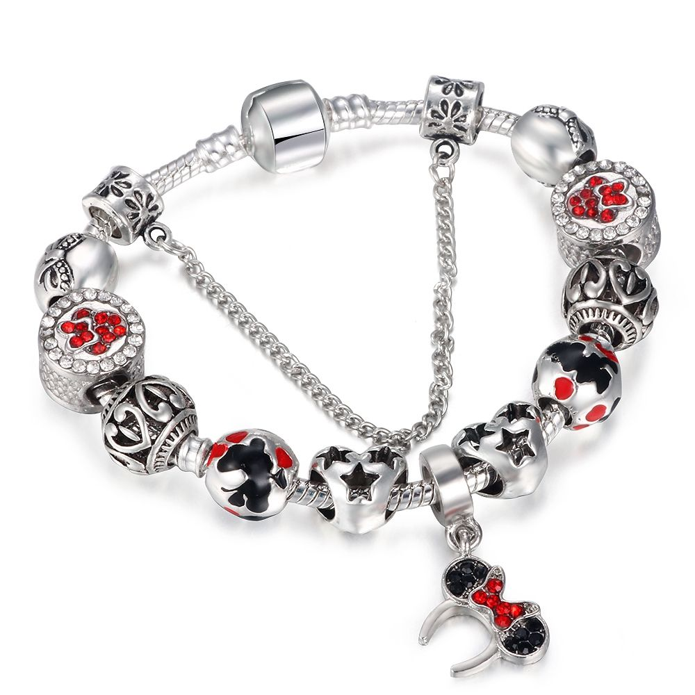 MISSITA Animal Mickey Minnie Charm Bracelets & Bangle For