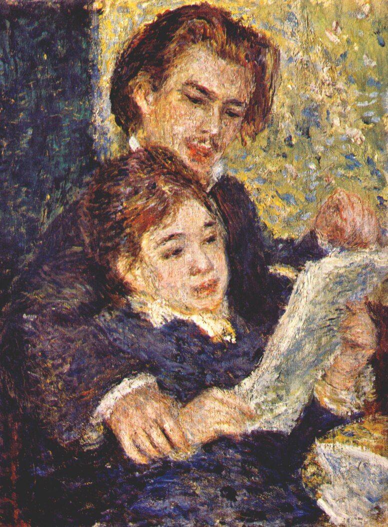 Georges Riviere And Margot By Pierre Auguste Renoir Renoir