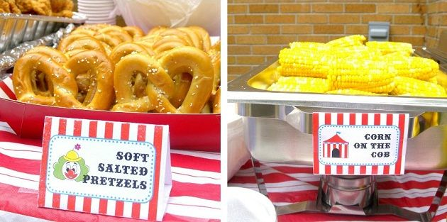 Circus food on pinterest circus party foods dumbo birthday party and carnival food parties - Carnival party menu ...