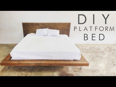 Need a new bed for your bedroom? Why not make DIY platform beds? Not