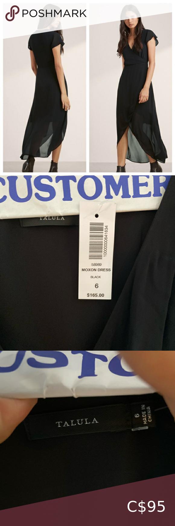 Beautiful Aritizia Talula Black Moxon Dress