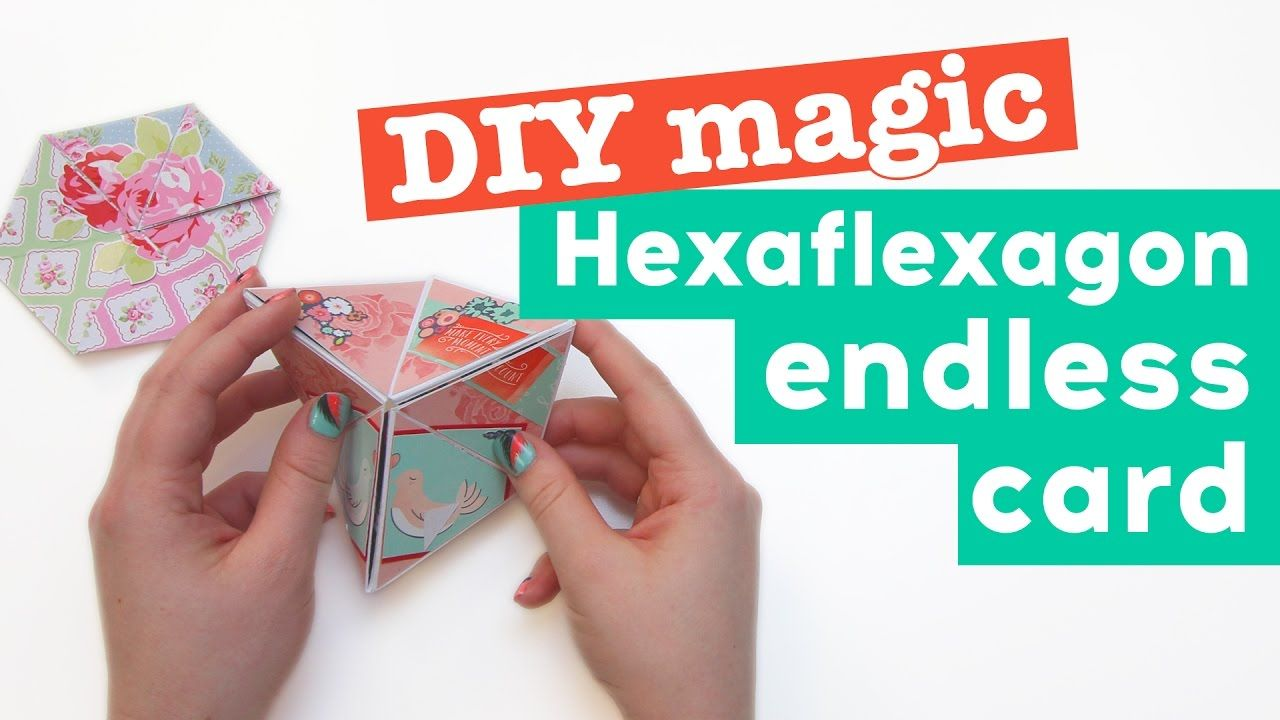 Diy Magic Hexaflexagon Endless Card With Images Fun Fold Cards