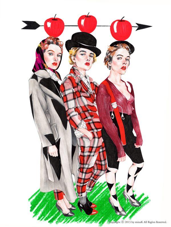 Vivienne Westwood Red Label 2014 F/W Backstage on Illustration Served