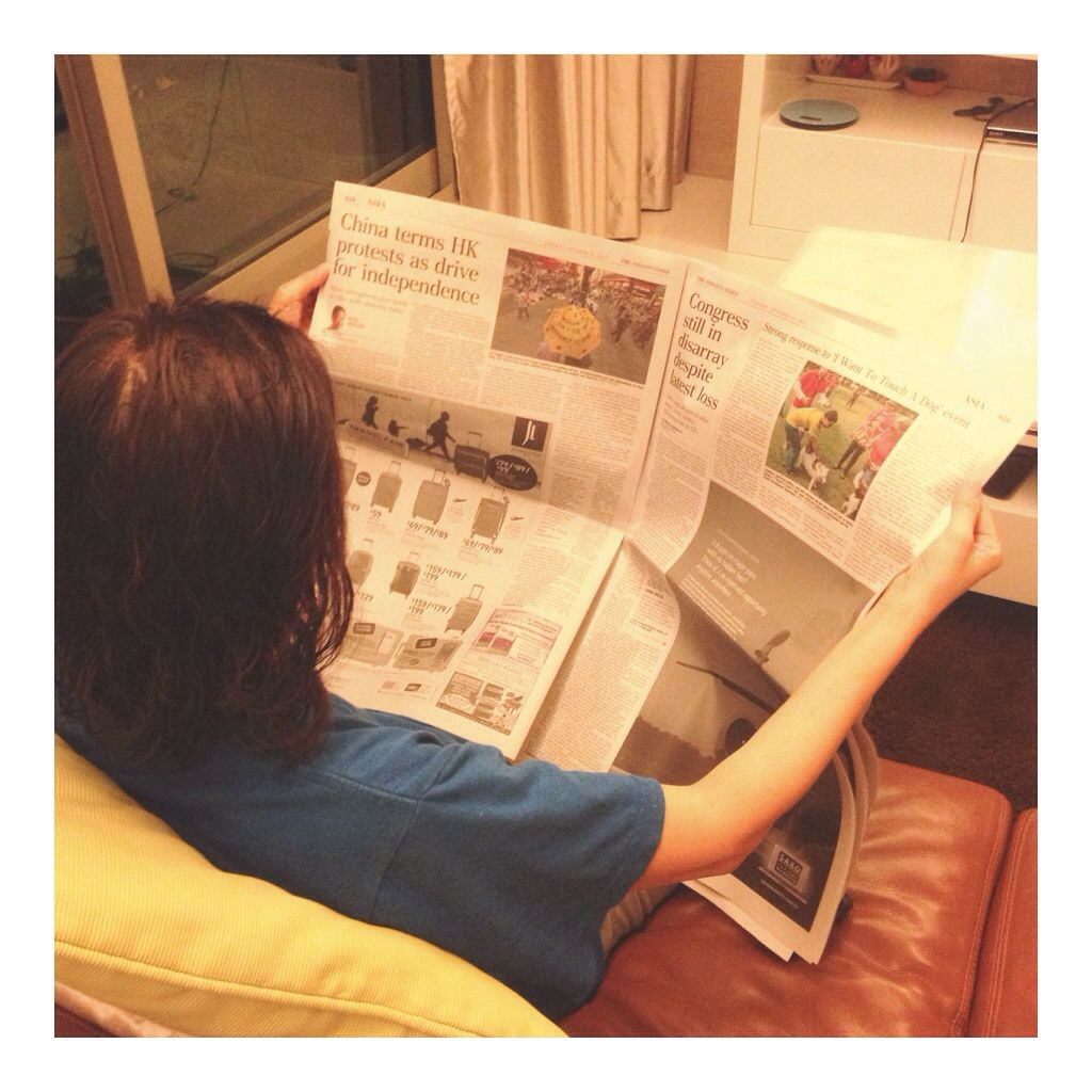 Reading today's paper