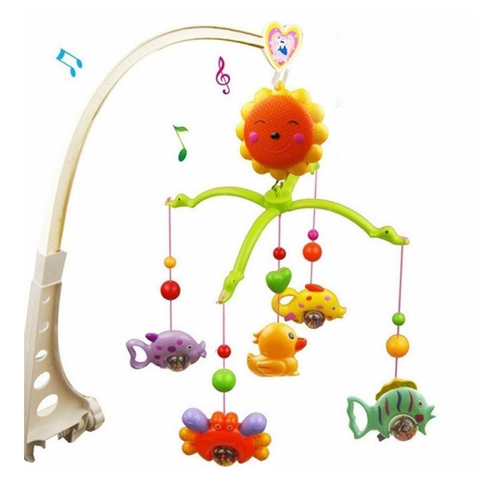 Crib music box for babies - Bed Bell Baby Crib Mobile Music Box Bracket Nursery New Melodies Song Toys Hanging Auto Kids