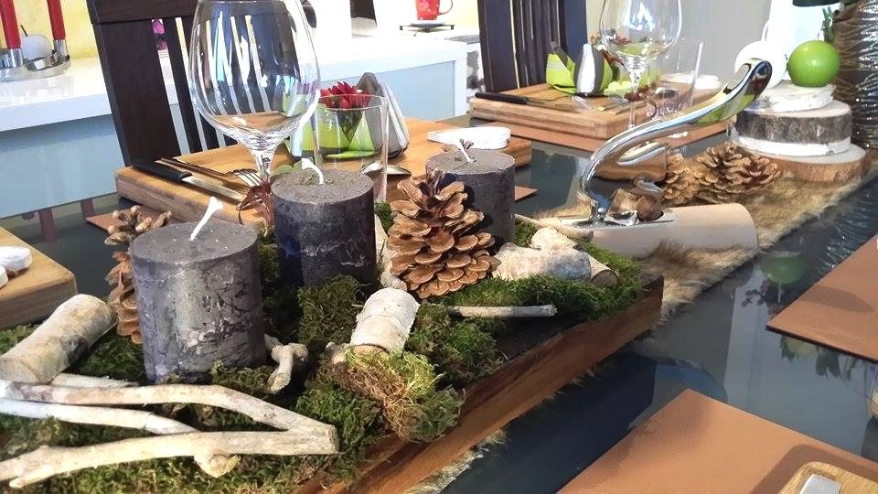 Jolie d co de table naturelle d cors de table - Decoration de noel theme nature ...