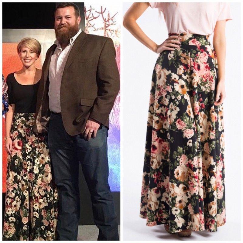 Erin Napier from HGTV HomeTown wearing Agnes   Dora - Ball Skirt in  Suburban Romance Black  60 7e038181f1