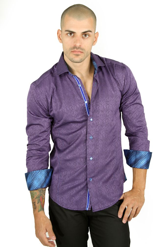 Mens Purple Shirt Button Down | Is Shirt