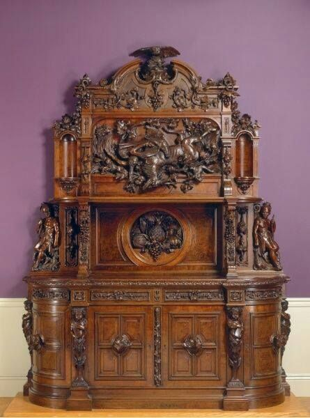 Antique furniture - Gorgeous Sideboard, Circa 1855. Joseph Alexis Bailly, American, 1825
