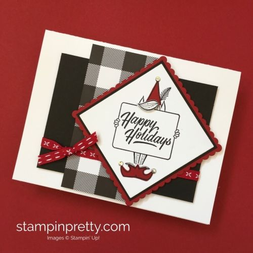 Learn How To Create This Simple Holiday Card Using Stampin Up Festive Phrases Stamp