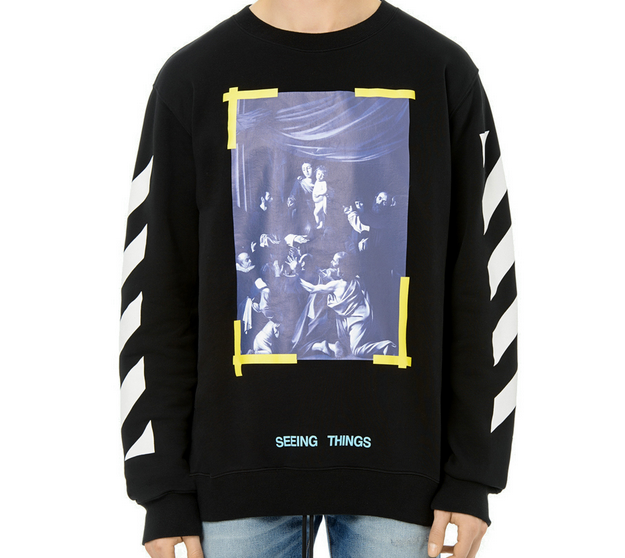 Off White Stripes Painting Sweater Have A Little Bit Of Culture On Your Wardrobe Offwhite Stripes Painting Sweater Sweater Hoodie Sweatshirts Swag Shop