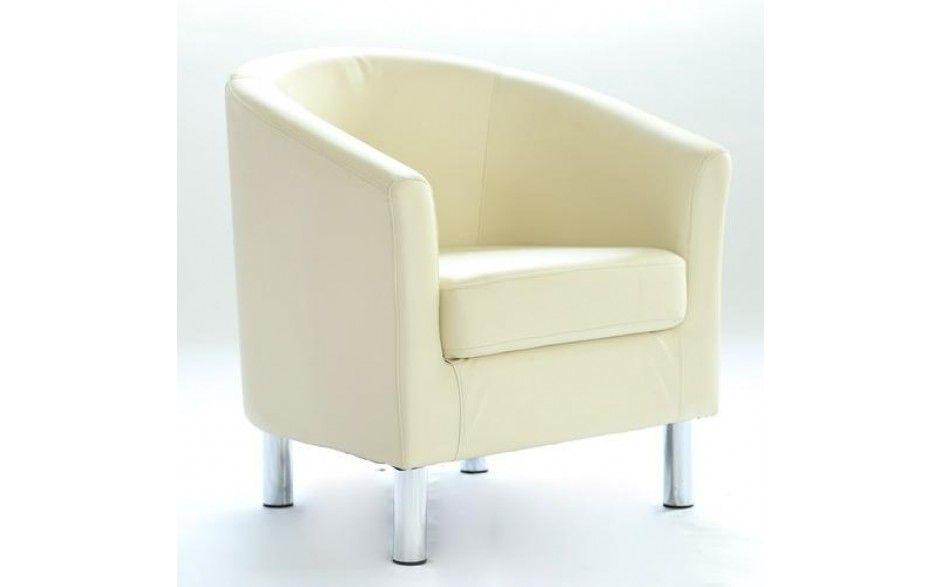 H4home Modern Tub Chair Armchair Pu Faux Leather Chrome Leg Lounge
