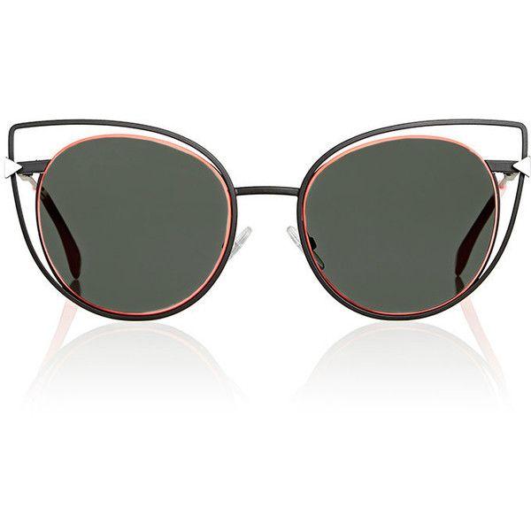 ba22c3ee53 Fendi Women s Cutout-Lens Rounded Cat-Eye Sunglasses ( 505) ❤ liked ...