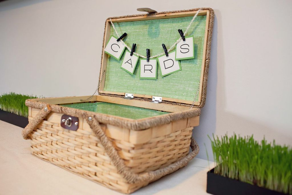 A Cute Picnic Basket Served As Vessel For Cards