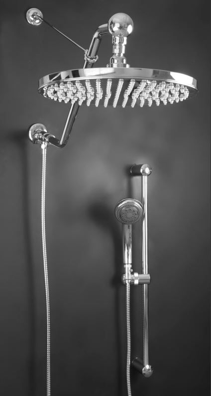 "Atlantis 27 Large 12"" Stainless Steel Rain Shower Head with ..."