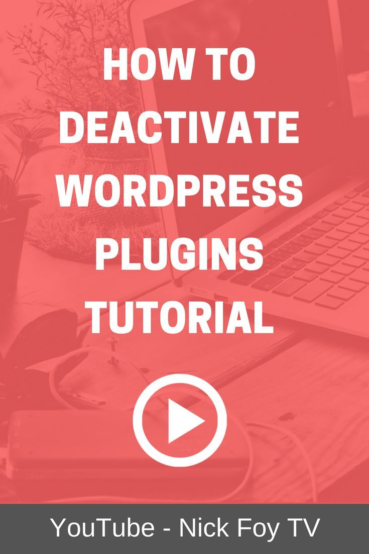 Wordpress tutorial video showing you how to deactivate plugins to wordpress tutorial video showing you how to deactivate plugins to stop them from running on your website especially if they are causing you errors baditri Images