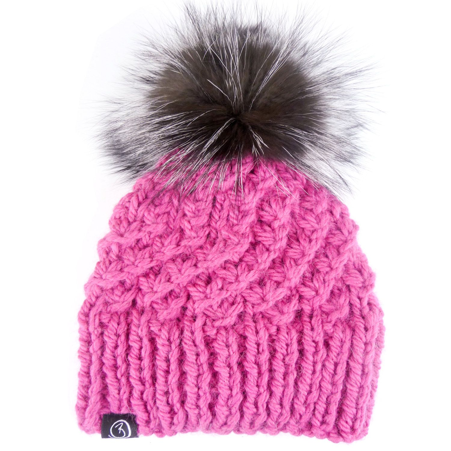 9af60a29ab7 Cerise with a Super Deluxe Silver Fox Fur Pom Pom by BRAVETHELABEL on Etsy