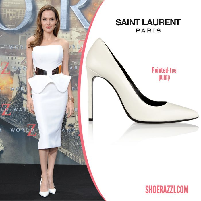 1000  images about Spotted Trend: Pointy White Pumps on Pinterest