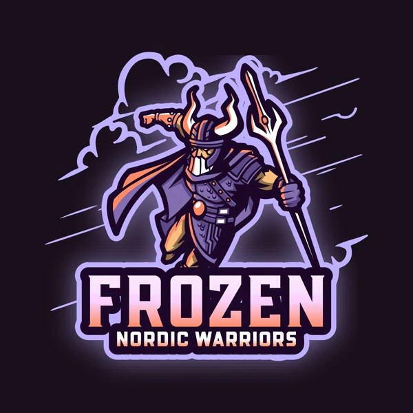 Gaming Logo Creator Featuring a Nordic Warrior Graphic